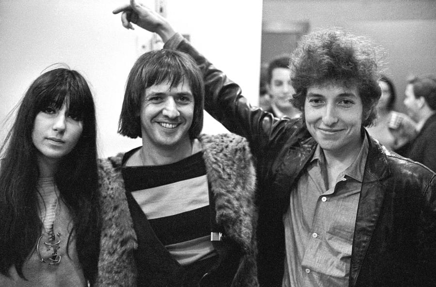 Bob Dylan With Sonny & Cher Photograph by Michael Ochs Archives