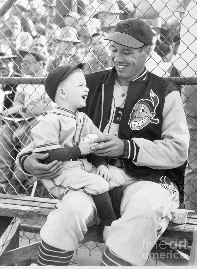 Bob Feller With Young Fan Photograph by Transcendental Graphics