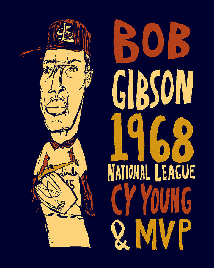 St Louis Cardinals Mixed Media - Bob Gibson St Louis Cardinals by JB Perkins