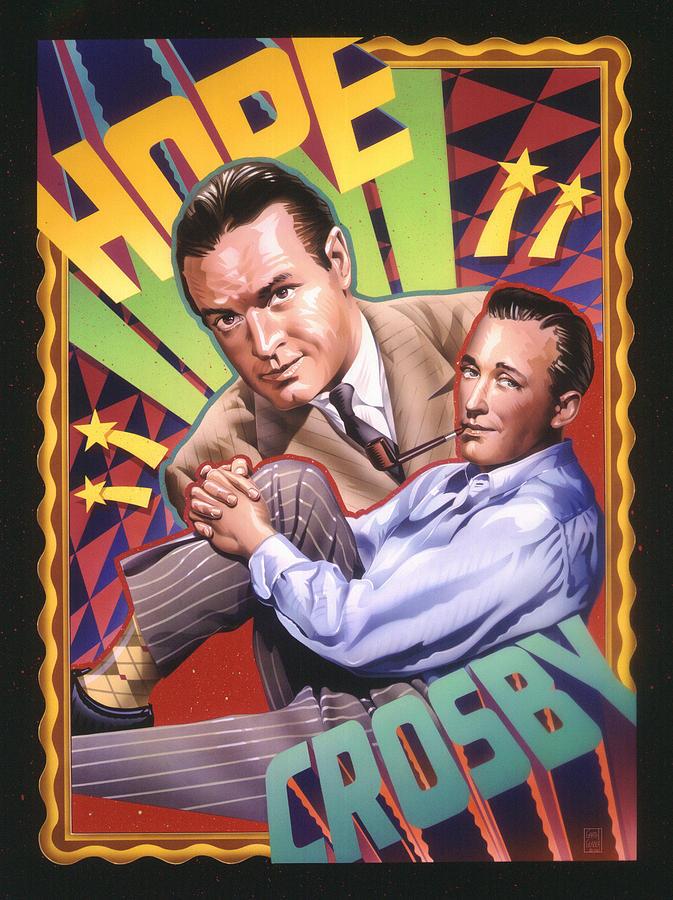Bob Hope And Bing Crosby Painting