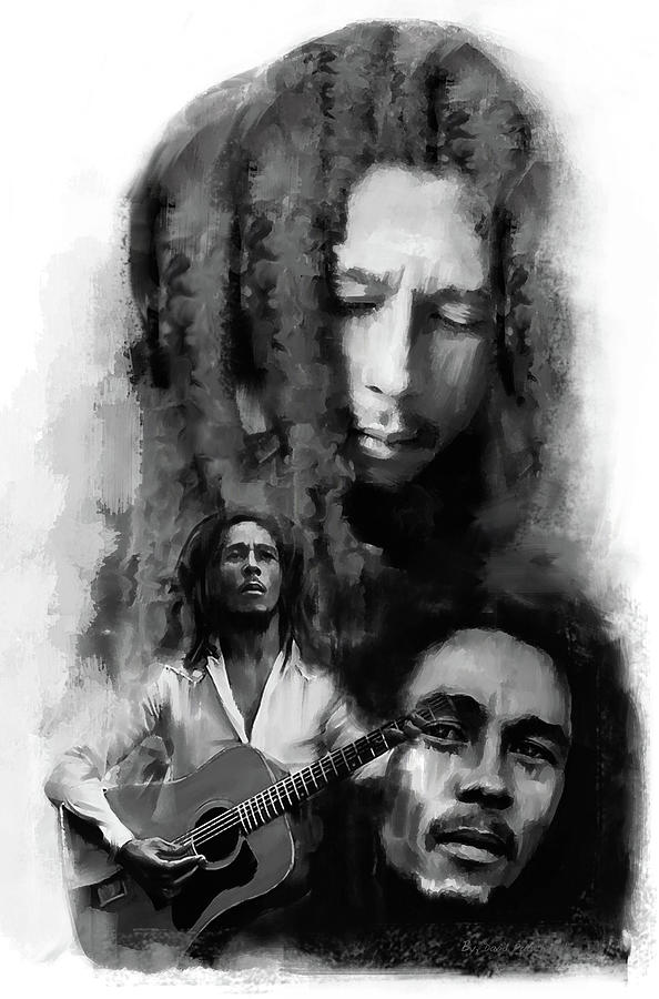 Bob Marley Inspiriting by Iconic Images Art Gallery David Pucciarelli
