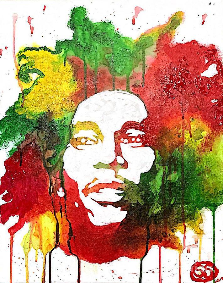 Bob Marley Painting - Bob Marley by Samuel Snelling