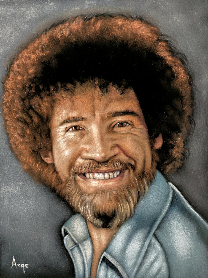 Bob Ross Painting - Bob Ross Portrait by Argo