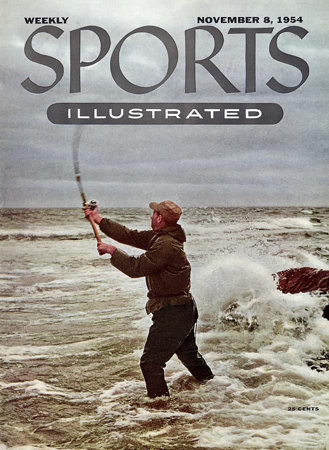 Bob Sylvester, Surf Casting Sports Illustrated Cover Photograph by Sports Illustrated