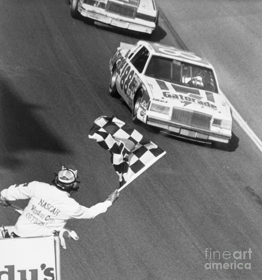 Bobby Allison Finishing Daytona 500 Photograph by Bettmann