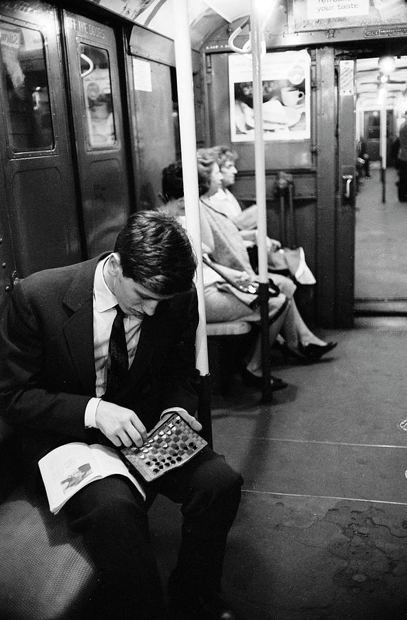 Bobby Fischer On The Subway Photograph by Carl Mydans