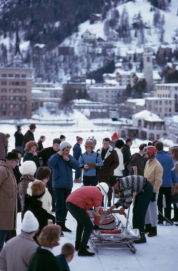 Bobsledding In St. Moritz Photograph by Slim Aarons