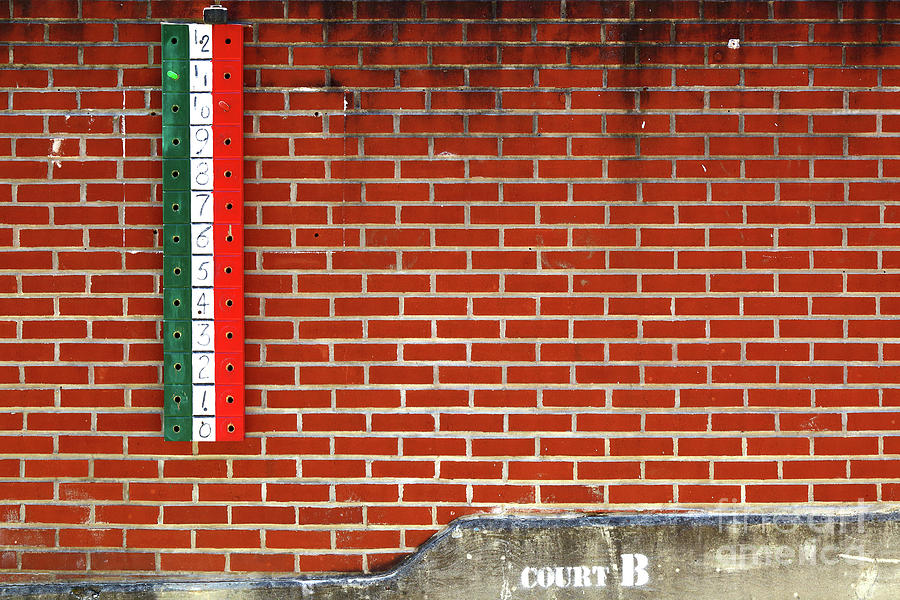 Bocce Ball Court Wall Little Italy Baltimore by James Brunker