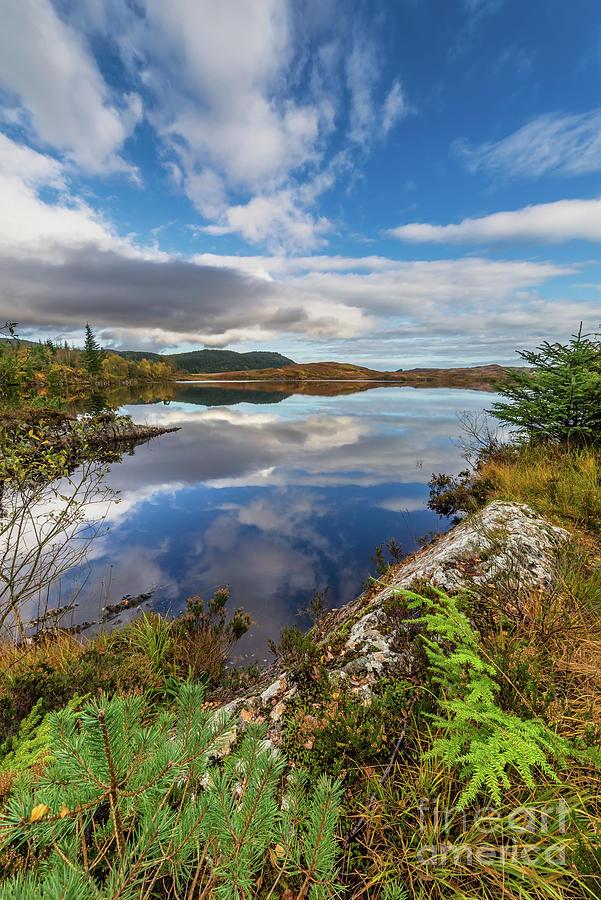 Autumn Photograph - Bodgynydd Lake Snowdonia by Adrian Evans