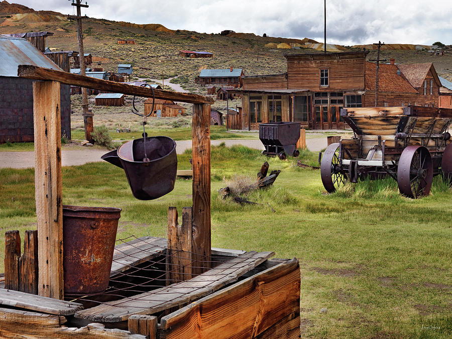Aged Photograph - Bodie Ghost Town by Leland D Howard
