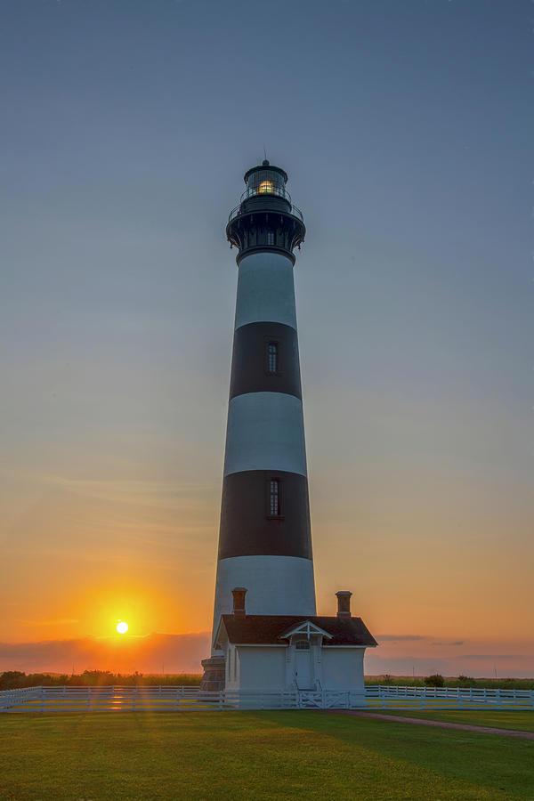 Bodie Island, Sunrise, OBX by Cindy Lark Hartman