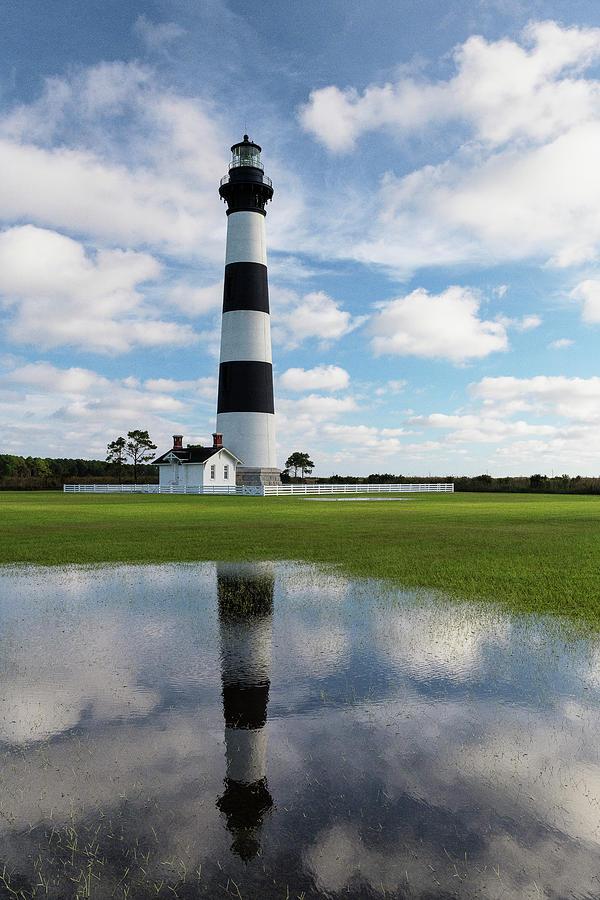 Bodie Lighthouse Reflection by Dennis Kowalewski