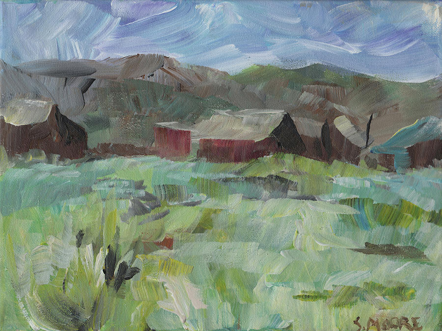 Ghost Town Painting - Bodie by Susan Moore