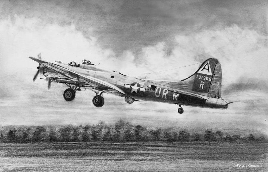 Boeing B-17G Drawing by Douglas Castleman