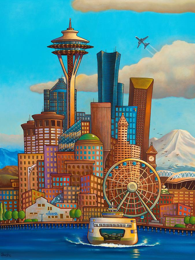 Seattle Painting - Boeing Town by Bryan Ubaghs