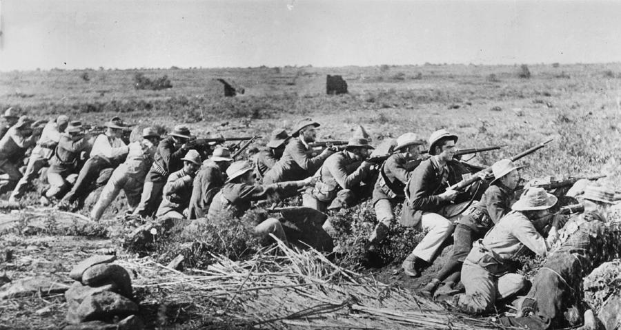 Boers In Trenches Photograph by Hulton Archive