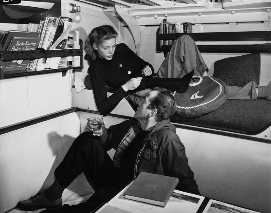 Bogart And Bacall Photograph by Fpg