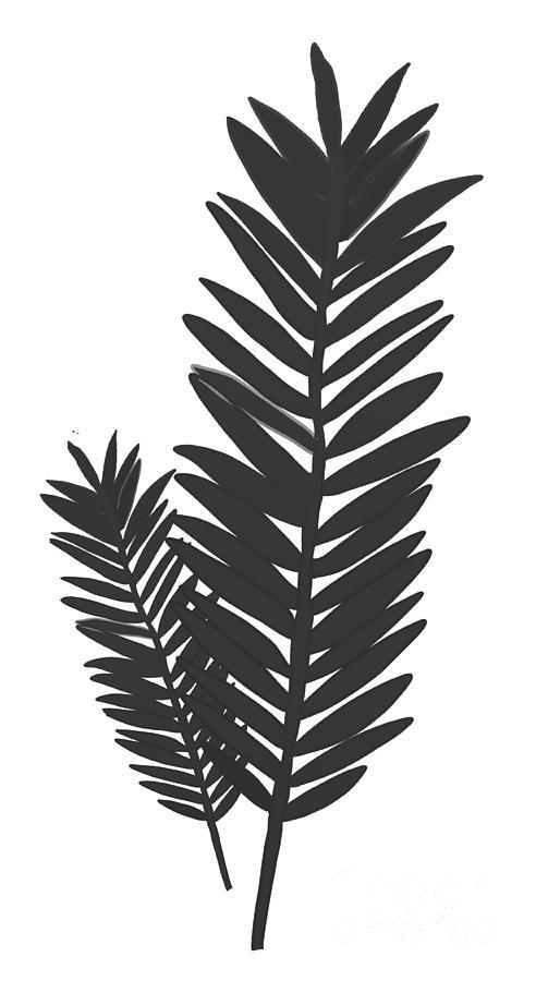 Bohemian Modern Palm Leaf Digital Art