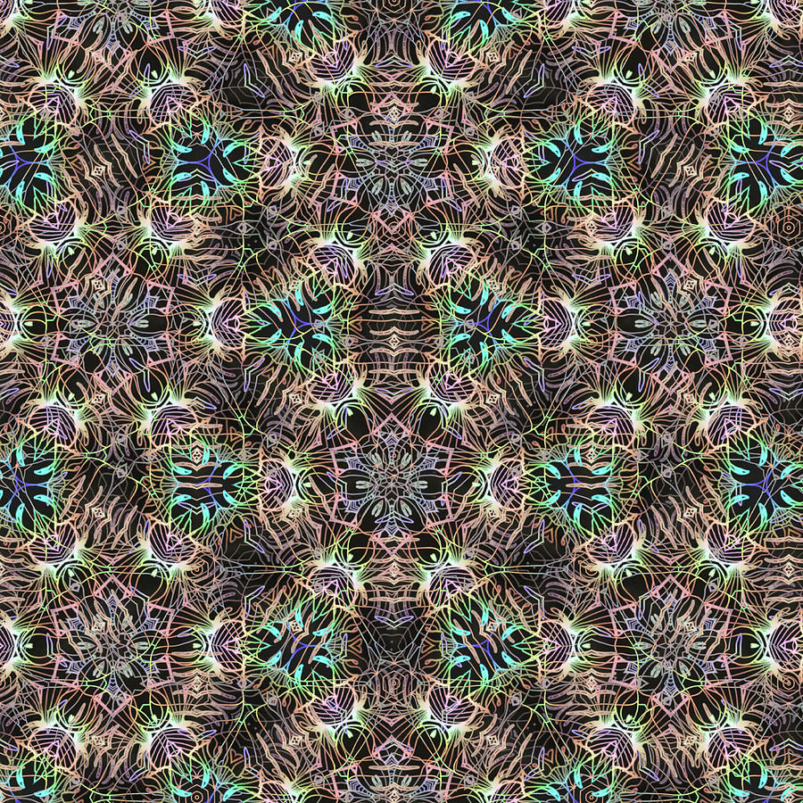 Abstract Mixed Media - Boho Gypsy Pattern 01 by Lightboxjournal