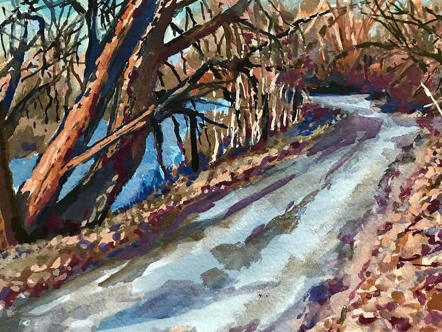 Boise Greenbelt study #5 by Les Herman