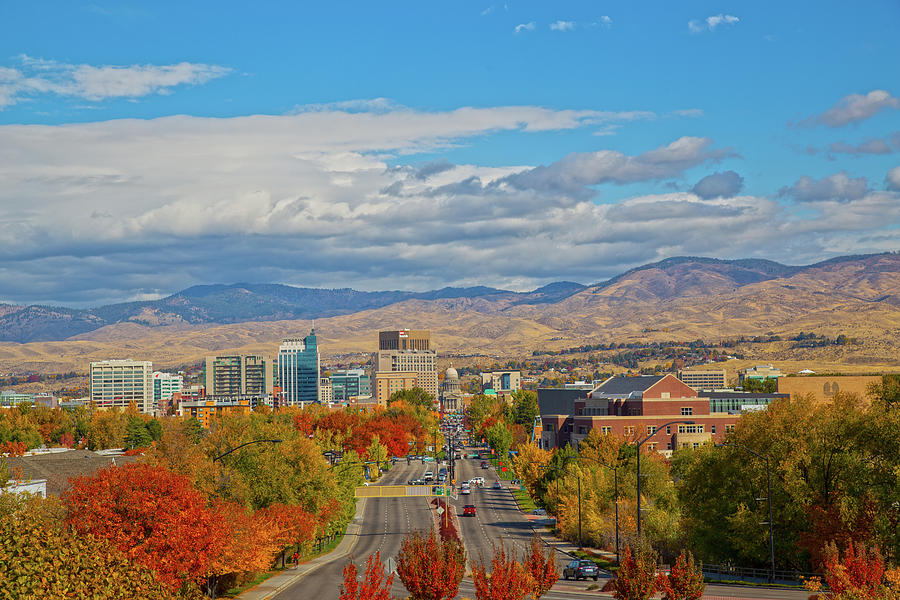 Boise in Fall by Dart and Suze Humeston