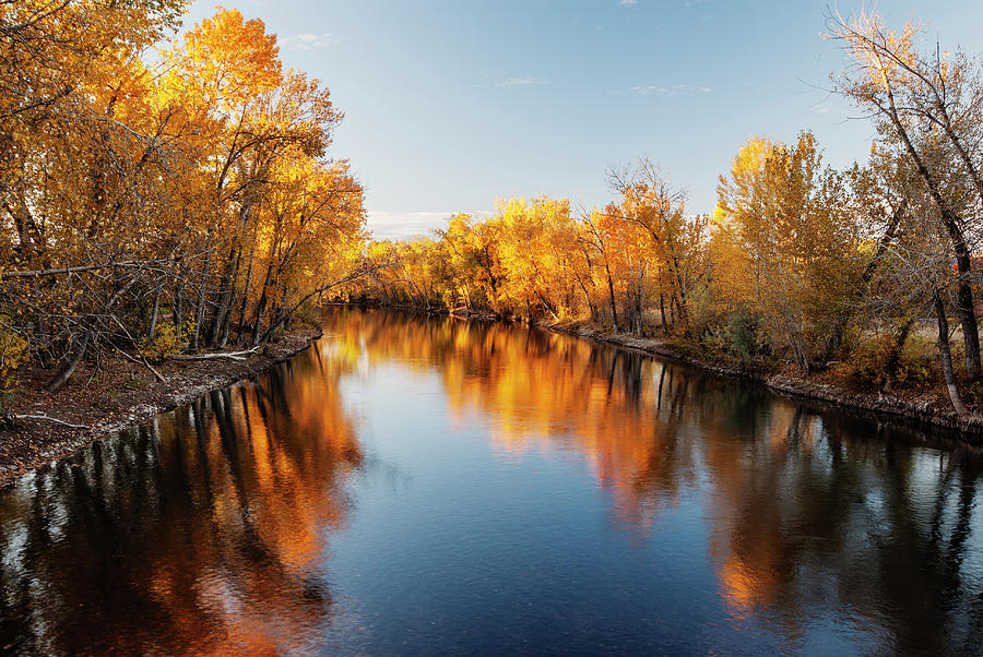 Boise River Autumn Magic by Vishwanath Bhat