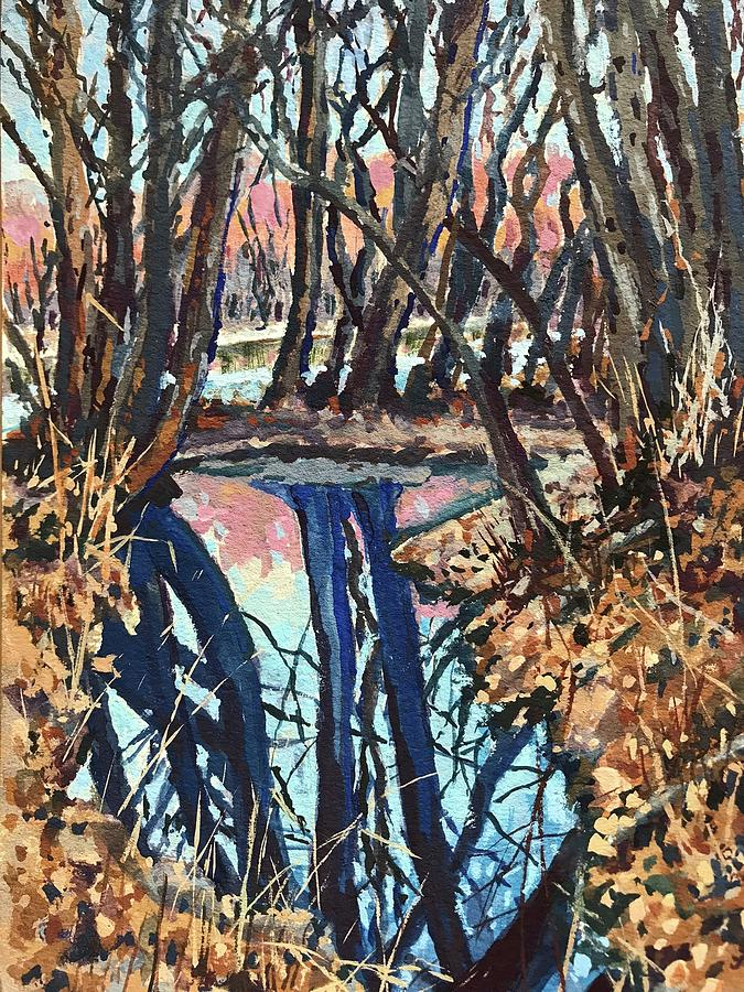 Boise River Reflections study by Les Herman