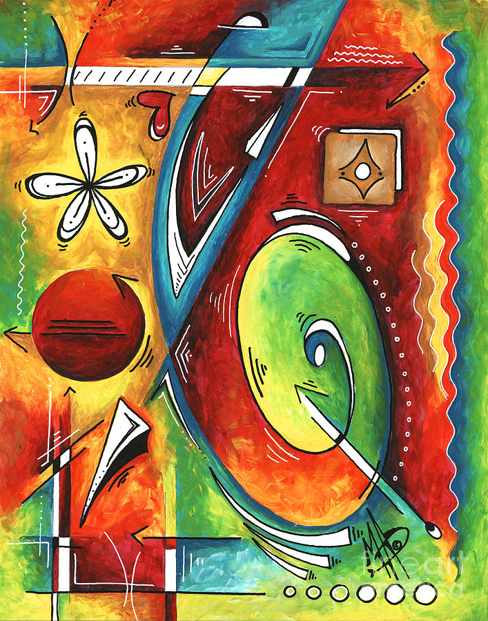 Bold Abstract Symbolic Inspirational Original Painting Follow Your Path by MADART by Megan Duncanson