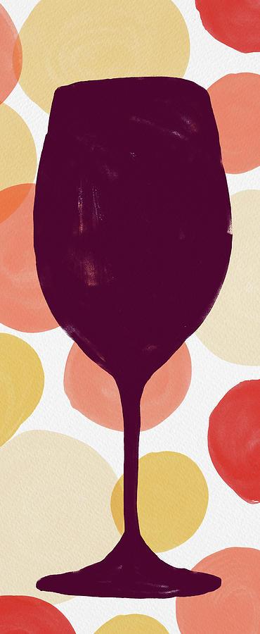 Bold Modern Wine Glass Art by Jen Montgomery