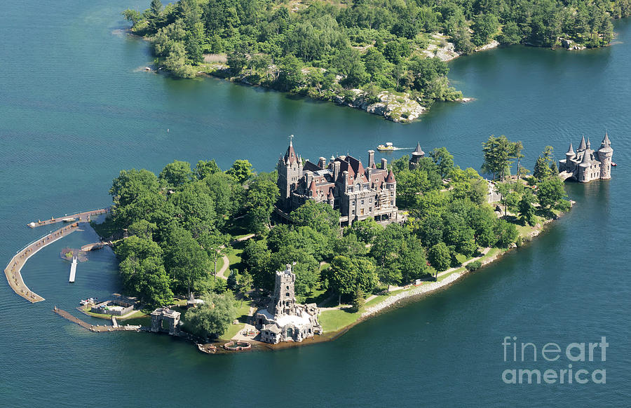 Boldt Castle on Heart Island in the Thousand Islands New York by Louise Heusinkveld