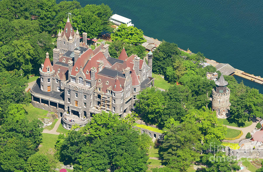 Boldt Castle on Heart Island in Thousand Islands New York by Louise Heusinkveld