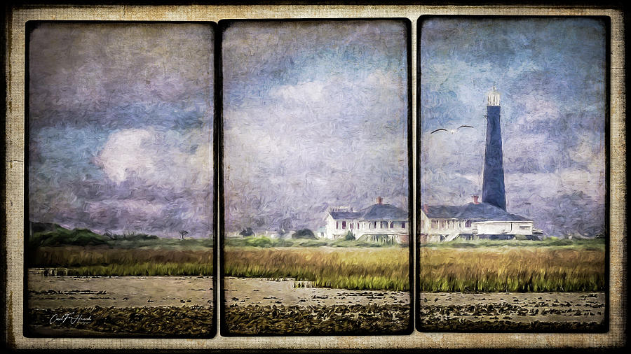 Bolivar Lighthouse Triptych 1 by Carol Fox Henrichs