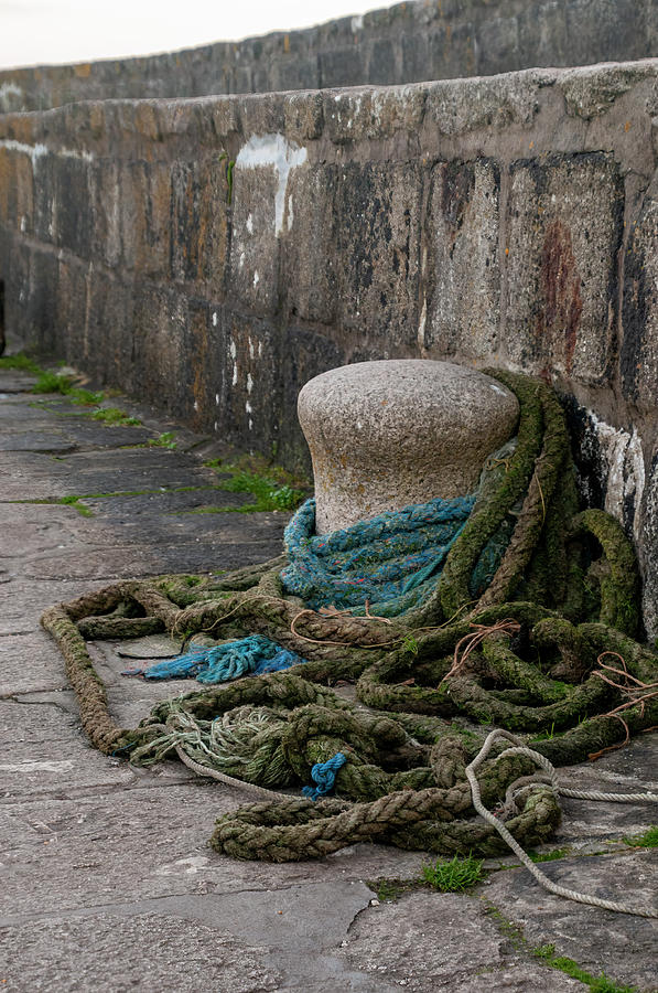 Bollard  and Ropes by Phyllis Taylor