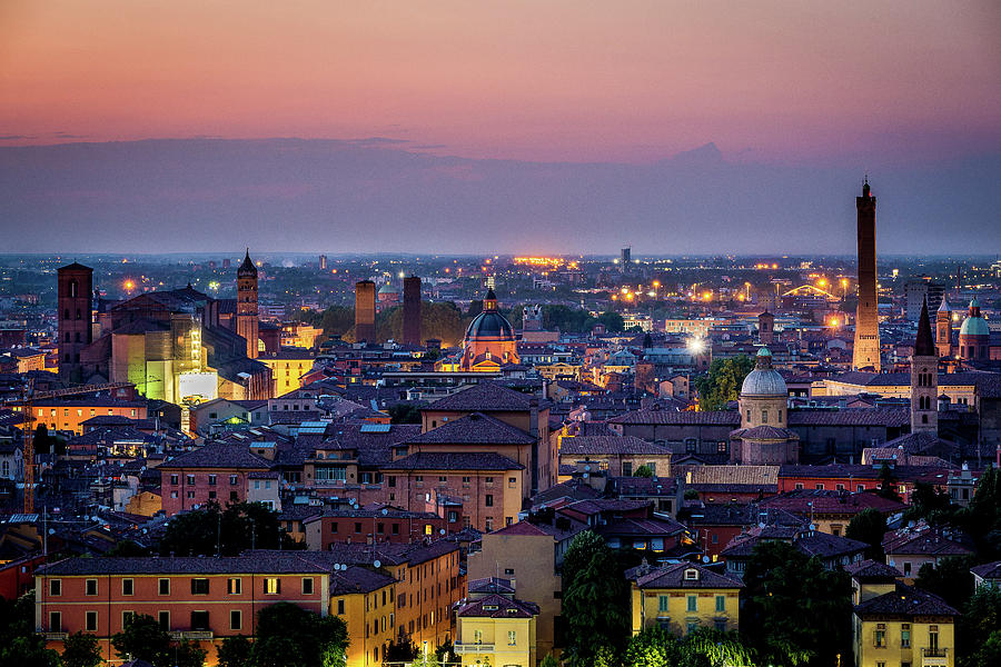 Bologna Photograph - Bologna cityscape by Andrei Dima