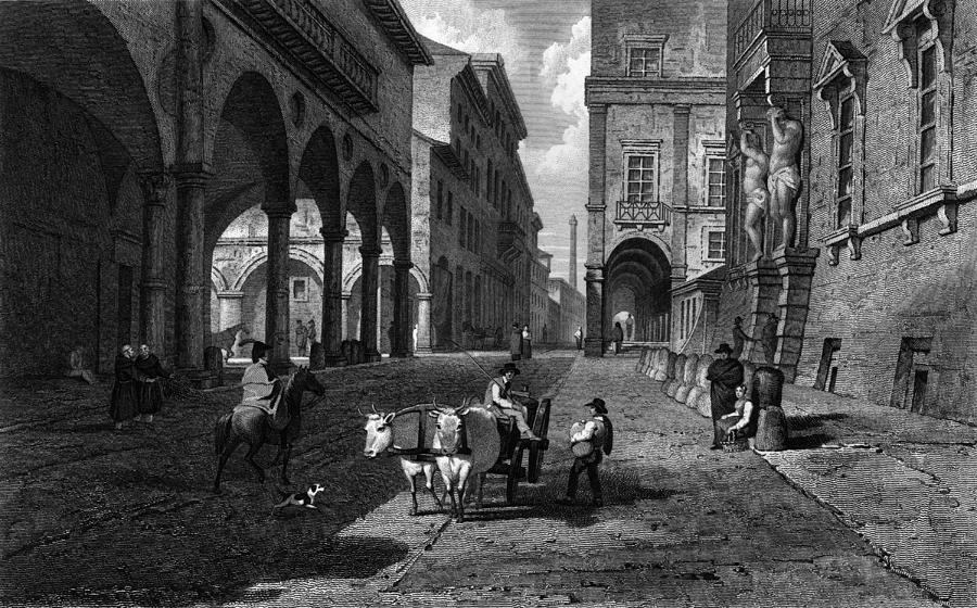 Bologna Main Street Digital Art by Hulton Archive