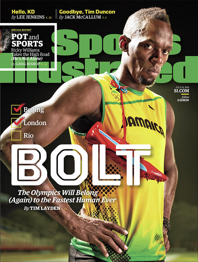 Bolt The Olympics Will Belong Again To The Fastest Human Sports Illustrated Cover Photograph by Sports Illustrated