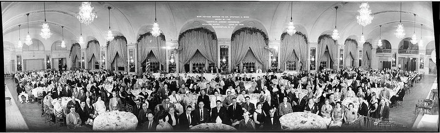 Panoramic Photograph - Bon Voyage Dinner To Dr. Stephen A by Fred Schutz Collection