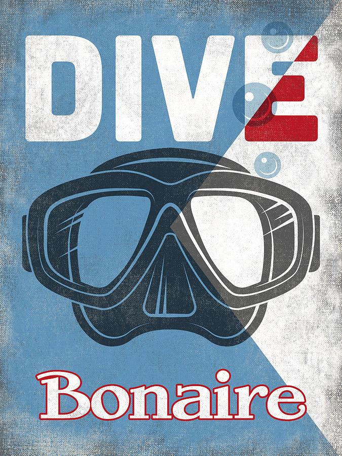 Bonaire Photograph - Bonaire Vintage Scuba Diving Mask by Flo Karp
