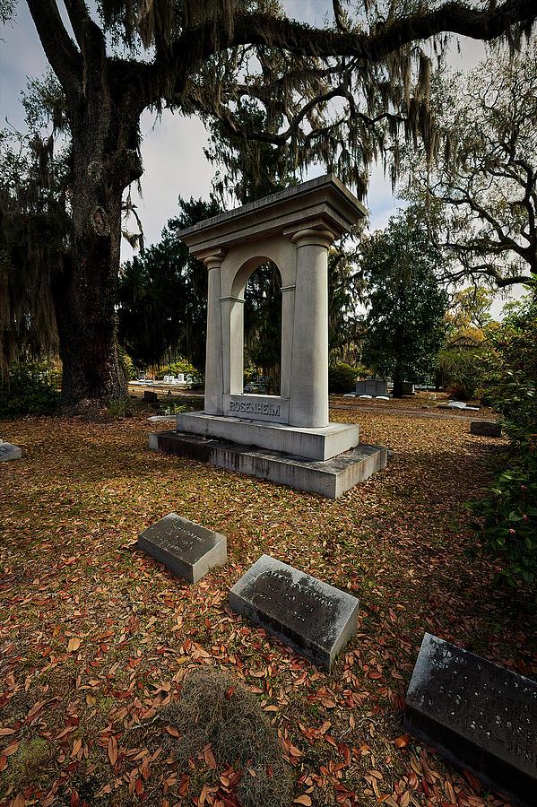 Cemetary Photograph - Bonaventrue Headstone by Jon Glaser