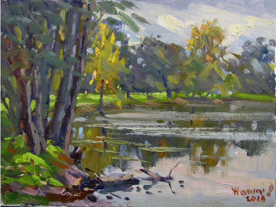Park Painting - Bond Lake Park by Ylli Haruni