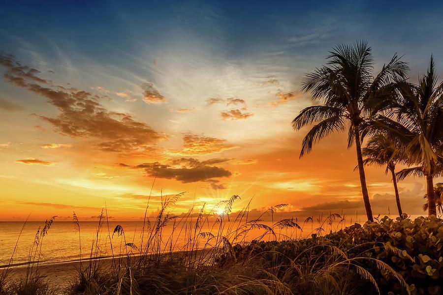 Florida Photograph - Bonita Beach Bright Sunset by Melanie Viola