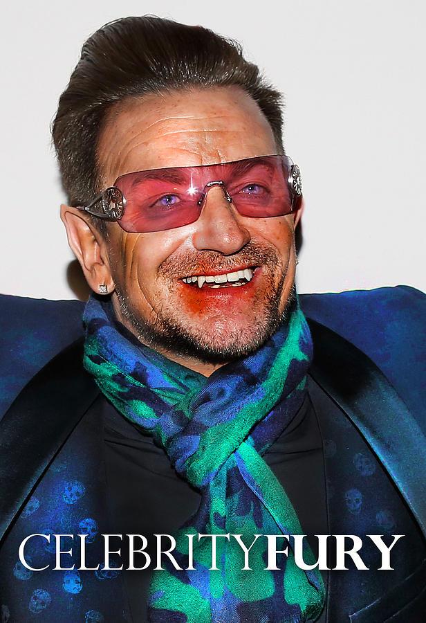 Bono Digital Art - Bono U2 by Queso Espinosa