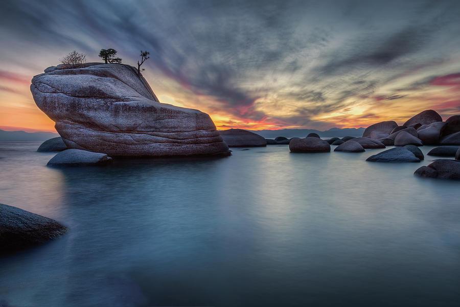 Bonsai Rock At Lake Tahoe Photograph By Rick Strobaugh