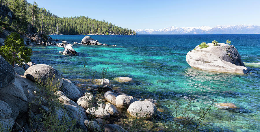 Bonsai Rock Lake Tahoe Panorama By Picturelake