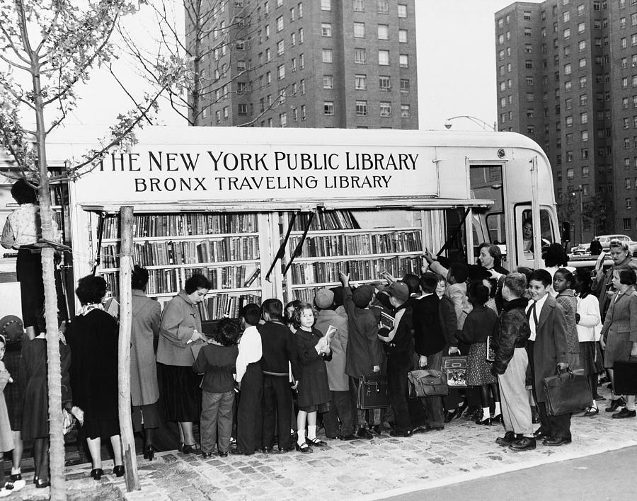 1950s Photograph - Bookmobile, 1950s by Granger