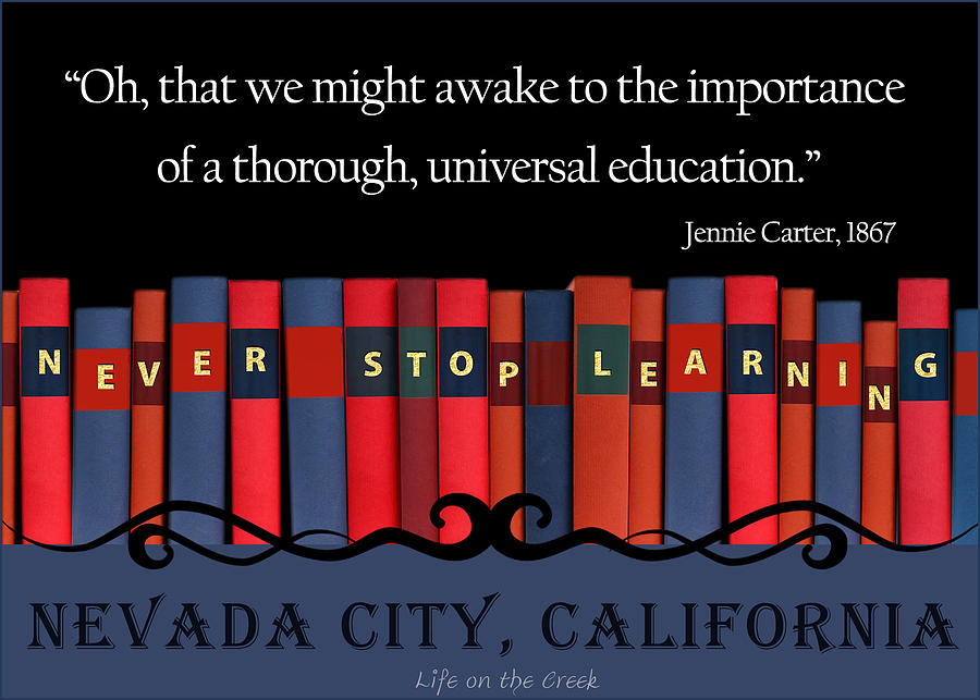 Books Never Stop Learning by Lisa Redfern