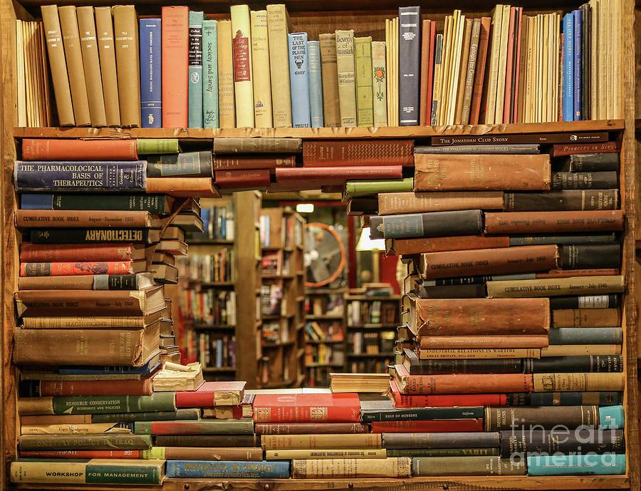 Bookstore Photograph - Bookstore Book Cutout by Eddie Hernandez