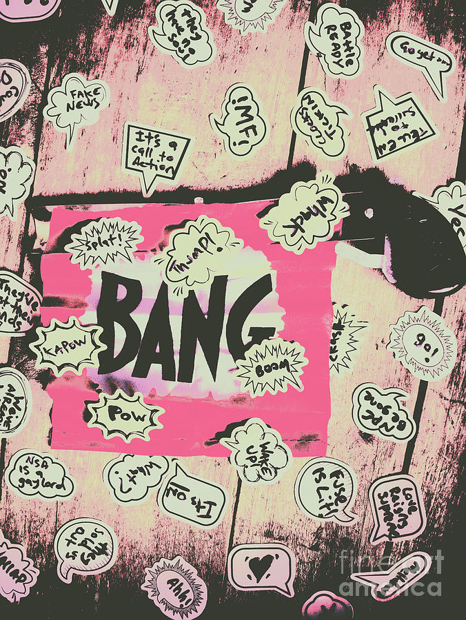 Gun Photograph - Boom Crash Bang by Jorgo Photography - Wall Art Gallery