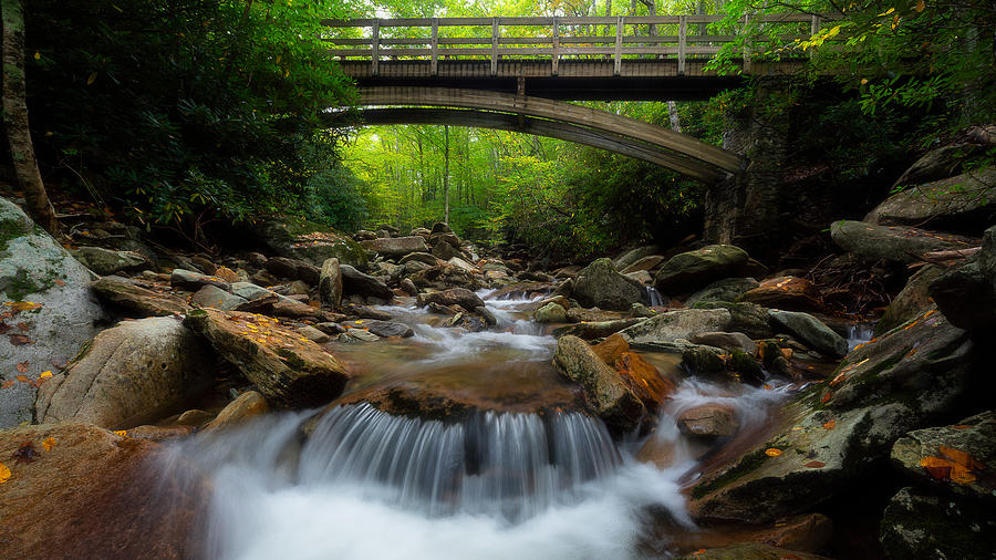 Boone Fork Bridge - Blue Ridge Parkway - North Carolina by Mike Koenig