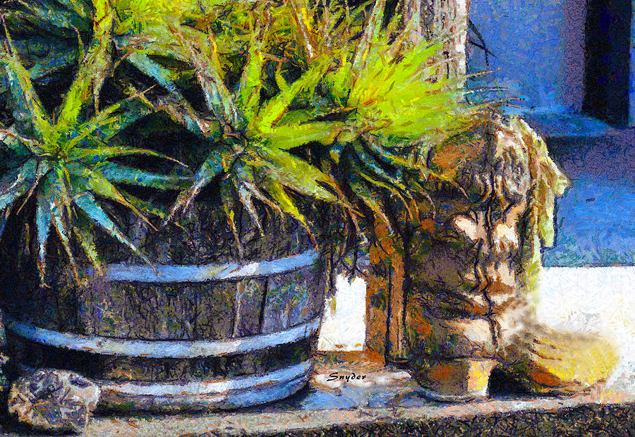 Boots and Barrels Detail by Barbara Snyder